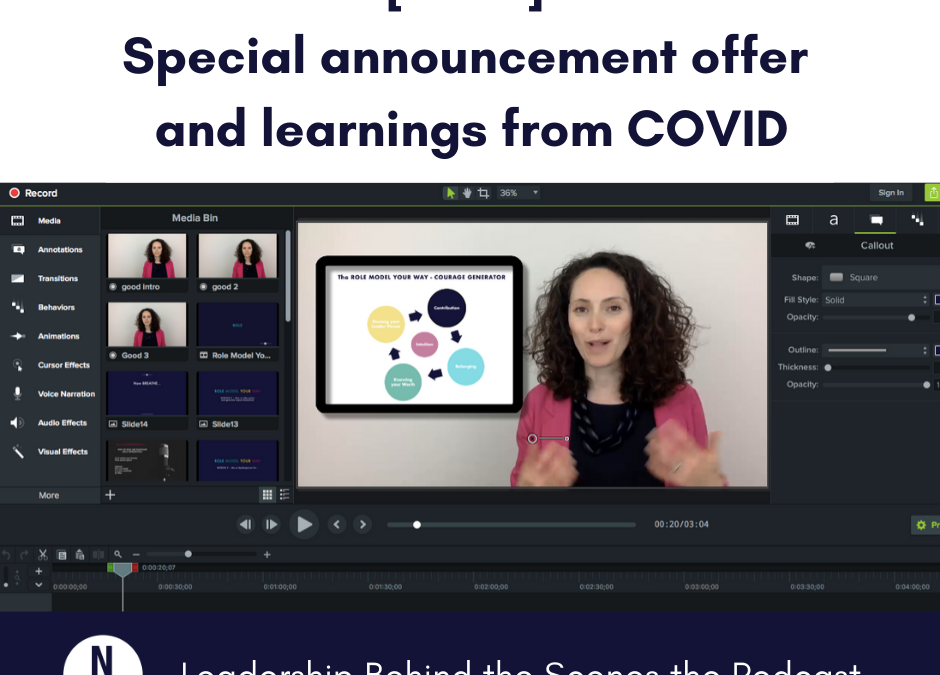 [EP 29] Special announcement and learnings from COVID